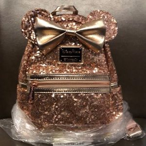 Rosegold Minnie Mouse Backpack by Loungefly